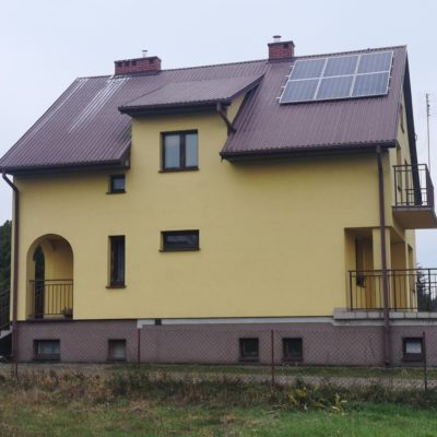 Marcinów, gm. Abramów - 3,36 kWp - strona zachodnia