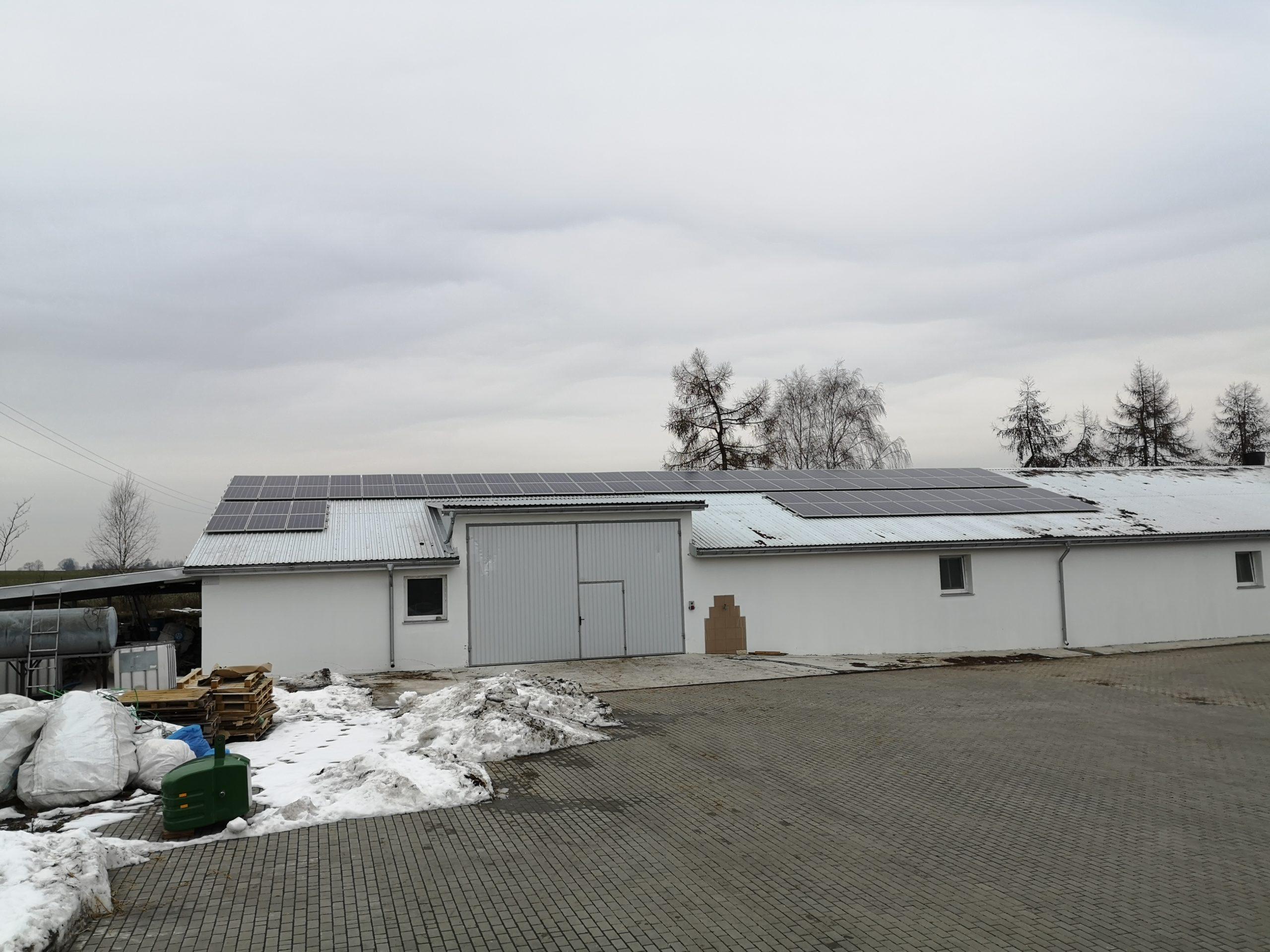 Stoczek, gmina Czemierniki - 44,82 kWp (moduły Jinko Solar 270W) - strona wschodnia