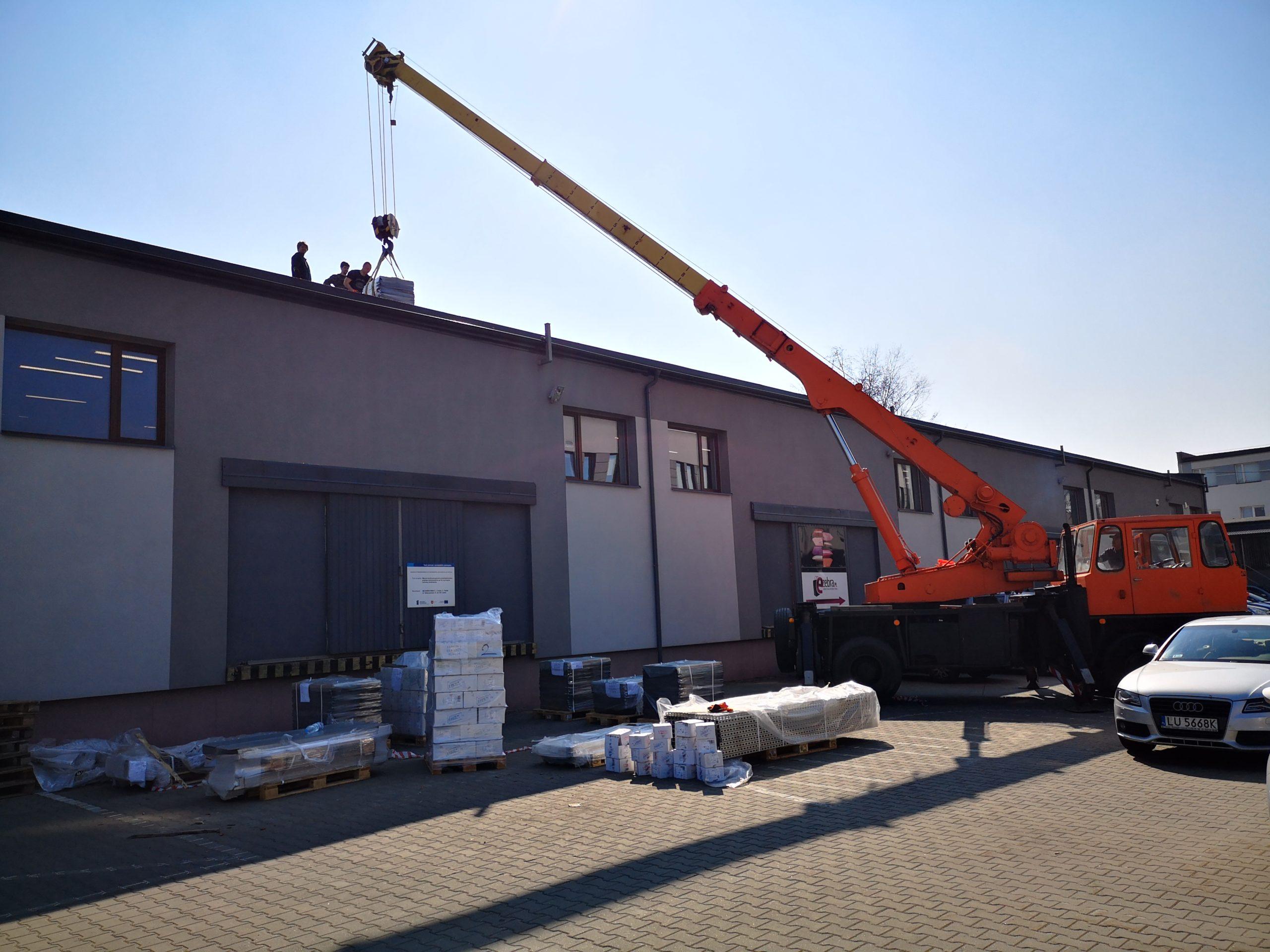 Wojciechowska 9A - roboty przy instalacji 160 kWp